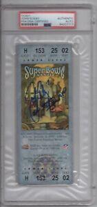 1999 Denver Broncos John Elway PSA DNA Certified Autograph Super Bowl Ticket