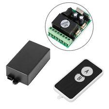 DC 12V 2 CH Signal Wireless RF Remote Control Receiver Relay Switch 433MHz