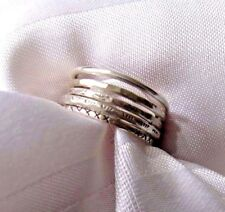 925 SOLID SILVER FIVE IN ONE STACKING RING SIZE 9 *Pretty little Kiss*
