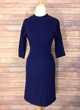 Nancy Greer Navy Blue Vintage Wiggle Dress Size 10