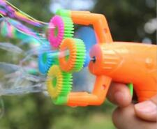 Electric Soap Bubble-gun Battery Power Bubble Water Blowing Toy Christmas Gifts
