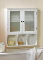 white glass door wall mount hanging medicine cabinet bathroom storage shelf