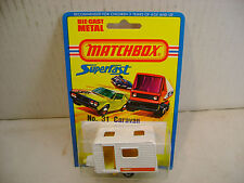 1976 MATCHBOX LESNEY SUPERFAST #31 CARAVAN NEW MOC