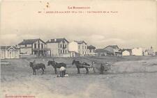 CPA 66 ARGELES SUR MER LES CHALETS DE LA PLAGE (attelage tiré par 3 chevaux