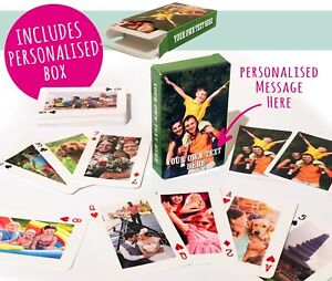 Personalised Playing Cards - Your images on both sides! - With Personalised Box!