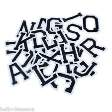 1Set Embroidered Patches For Clothes Garments Iron-on Sew-on A-Z Alphabet