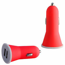 High Quality Red 2.1 A Rapid Double Speed Dual Universal Car Charger For Mobile