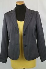 Biaggini Woman's Dark Brown Striped Jacket Size EU 36 FR 38