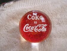 Vintage Coca Cola Glass Paper Weight Advertising