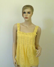 Cynthia Steffe Floral Embroidered Yellow Top Tank NWT 10