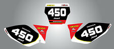Custom Number Plates for Honda CRF 450 2008 stickers decals Sonic style