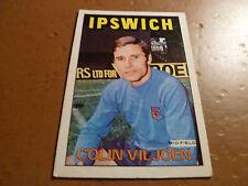 A & A.C. Chicle Fútbol Tarjeta 1972/73 Rojo Naranja Trasera Colin Viljoen Ipswich 115