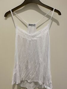 Cotton On Women's White Strappy V Cami L Excellent Condition, Hardly Worn