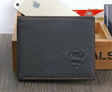 Black Men's Superman Leather Wallet Bifold Pocket Card/ID Holder Slim Purse