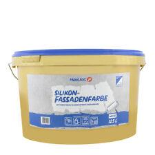 (4,72€/ L)Farbklecks24 Silikon-Fassadenfarbe 12,5L weiss ,wetterbeständig schmut
