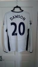 Tottenham Hotspur Spurs Bianco 2008/2009 Dawson PLAYER ISSUE HOME SHIRT JERSEY