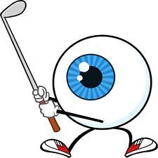 30 Custom Eyeball Golfer Personalized Address Labels