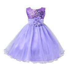 Neu Blumen Kinder Kleid Prinzessin Kommunion Mädchen Hochzeit Party Ballkleider