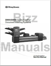 Pitney Bowes Repair Service and Parts Manuals for DI900 DI950 Inserter
