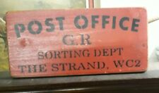 Vintage, aged Crate Box Post Office, The Strand Wc2