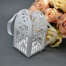 100PCS White Pretty Wedding Favor Box Gift Boxes Candy Party Paper Bags