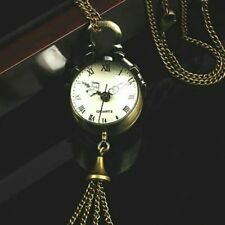 Pocket Watch Chain Retro Vintage Bronze Quartz Ball Glass Pocket