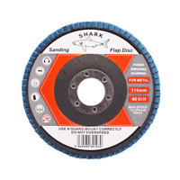 FLAP GRINDING SANDING DISCS 115mm 40 60 80 120 Grit Angle Wheel ZIRCON by SHARK