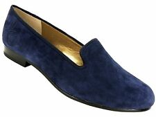 Sam Edelman Women's I15 Hurley Smoking Slipper Shoes Navy Blue Suede Size 8 M