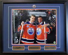 Connor McDavid & Wayne Gretzky Edmonton Oilers Final Game at Rexall 31x25 Frame