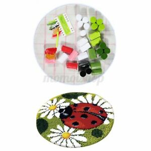 DIY Ladybug Latch Hook Rug Making Kit for Beginners Embroidery Craft Home Decor