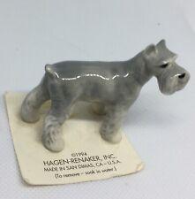 Hagen Renaker Miniature Dog Figurine Grey Schnauzer 1989 Original Tag