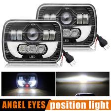7x6 inch 2pcs Headlight Square Bright Light LED Beam DRL for Toyota Pickup Truck