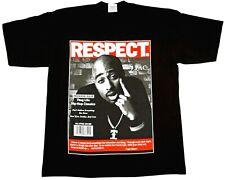 TUPAC SHAKUR T-shirt 2Pac Urban Hip Hop Rap Tee Adult Mens 100% Cotton Black New