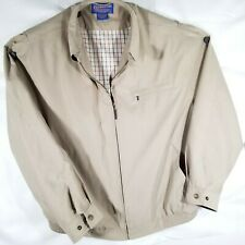 Mens XL Pendleton Jacket Brushed Cotton Camel Tan Lined Mid-Weight