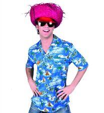 Camicia hawaiana fiorata blu per festa hawaiana taglia XL