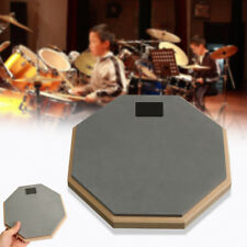 Dumb Drum Pad Mat Drummer Practise Exercise Double Soft Rubber Wood Side 8''