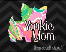 "5"" YORKIE MOM DOG LOVER PET VINYL DECAL STICKER LAPTOP YETI CAR CUP MACBOOK"