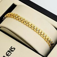 """Women's Bracelet 18K Yellow Gold Filled 7.5"""" Chain Charms Link Wedding Jewelry"""