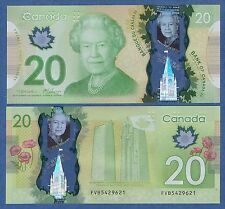 CANADA 20 Dollar P 108 2012 UNC Polymer Sign Macklem Carney Low Shipping! P-108a