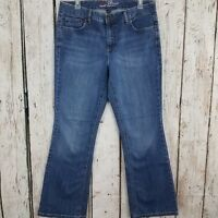 Tommy Hilfiger Womens Hope Boot Cut Jeans Size 12A Blue Medium Wash Mid Rise