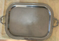 Vintage Royal Rochester Steel Silver Serving Tray Vintage