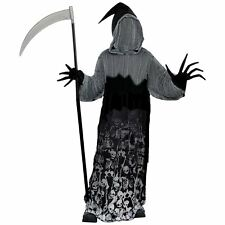 Teen Boy Dark Shadow Creeper Outfit 14-16 Years Halloween Grim Reaper Costume
