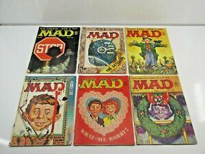 Vintage MAD Magazines 1950's Lot x6 55, 58, 59