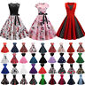 Women Retro 50s 60s Vintage Rockabilly Dress Prom Swing Evening Party Dress HOT
