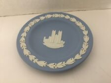 Wedgwood Jasperware Blue Westminster Abbey Small Plate Coaster Marked England