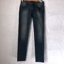 Sisley Womens Size 26 Tall Skinny Jeans Distressed Cotton Blend