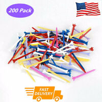 """Zero Friction Performance Golf Tees 3 1/4"""" 200 Pack 5-Prong 83mm Durable Plastic"""