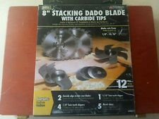 "8"" STACKING DADO BLADE 12 peice SET BY MIBRO 416371, 1/4"" - 13/16"""