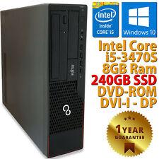 PC COMPUTER DESKTOP RICONDIZIONATO E910 CORE i5-3470S RAM 8GB SSD 240GB WIN 10