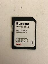 Carte SD Navigation Europa D'origine Audi Version 2016 Ref:8V0919866
